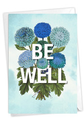 Timely Thoughts - Be Well, Printed Blank Note Card - C3696DFRB