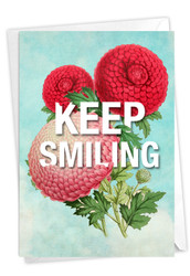 Timely Thoughts - Keep Smiling, Printed Blank Note Card - C3696FFRB