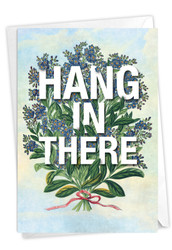 Timely Thoughts - Hang In There, Printed Blank Note Card - C3696JFRB