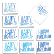 Holidays In Blue, Assorted Set Of Mini Blank Greeting Cards - AM3697HKB