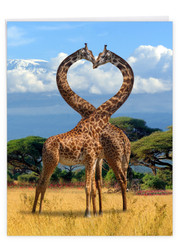 J3504AAN - Loving Animals: Large Note Card