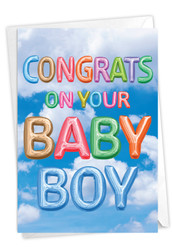 C5651KBB - Inflated Messages - Baby Boy: Paper Card