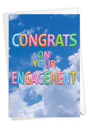 C5651MEN - Inflated Messages - Engagement: Greeting Card