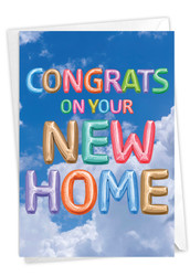 C5651NNH - Inflated Messages - New Home: Printed Card