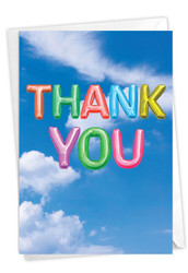 C5651OTY - Inflated Messages - Thank You: Paper Card