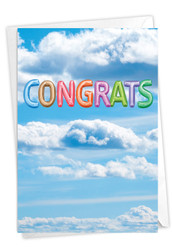 C5651PCG - Inflated Messages - Congrats: Note Card