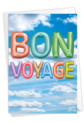 Inflated Messages, Printed Bon Voyage Note Card - C5651QBVG