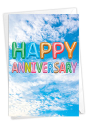 C5651TAN - Inflated Messages - Anniversary: Note Card