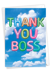 C5651UBY - Inflated Messages - Thank You Boss: Greeting Card