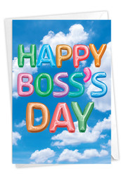 C5651ZBO - Inflated Messages - Boss's Day: Printed Card