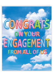 J5651MEN - Inflated Messages - Engagement: Big Greeting Card