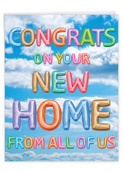 J5651NNH - Inflated Messages - New Home: Large Printed Card