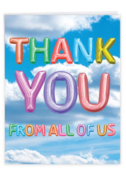 J5651OTY - Inflated Messages - Thank You: Extra Large Paper Card
