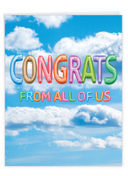 J5651PCG - Inflated Messages - Congrats: Giant Note Card