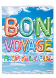 J5651QBV - Inflated Messages - Bon Voyage: Over-sized Greeting Card