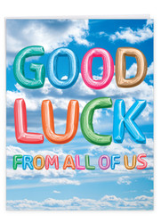 J5651SGL - Inflated Messages - Good Luck: Big Paper Card