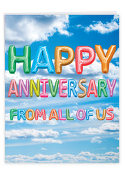 J5651TAN - Inflated Messages - Anniversary: Large Note Card