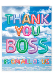 J5651UBY - Inflated Messages - Thank You Boss: Extra Large Greeting Card