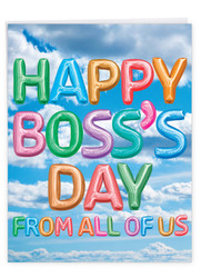 Inflated Messages, Jumbo Boss's Day Greeting Card - J5651ZBOG-US