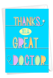 Doctor Gratitude, Printed Thank You Note Card - C9151TYG