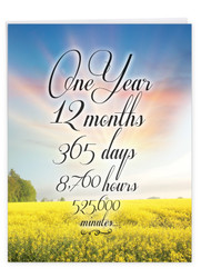J9083AA - 1 Year Time Count: Over-sized Paper Card