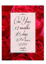1 Year Time Count, Extra Large Milestone Anniversary Greeting Card - J9083MAG-US