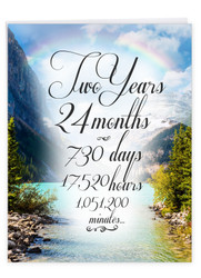 J9085AA - 2 Year Time Count: Big Greeting Card