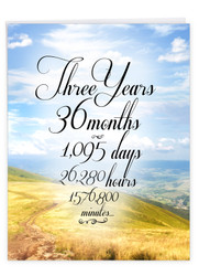 J9086AA - 3 Year Time Count: Large Printed Card