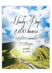 J9089AA - 90 Day Time Count: Over-sized Greeting Card