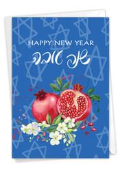 Sweet New Year, Printed Rosh Hashanah Greeting Card - C9099JRHG