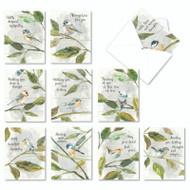 Birds Of Encouragement, Assorted Set Of Mini Sympathy Note Cards - AM9144SMG