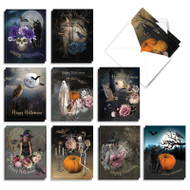 Ghoulish Greetings, Assorted Set Of Mini Halloween Note Cards - AM9147HWG