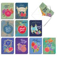 L'shana Tova, Assorted Set Of Mini Rosh Hashanah Note Cards - AM9148RHG