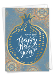 L'shana Tova, Printed Rosh Hashanah Greeting Card - C9148CRHG