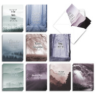 Misty Moments, Assorted Set Of Mini Sympathy Thank You Greeting Cards - AM9154STG