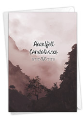 Misty Moments - Valley, Printed Sympathy Greeting Card - C9154HSMG