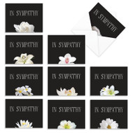 Floral Support, Assorted Set Of Mini Sympathy Note Cards - AM9156SMG