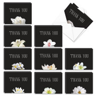 Floral Support, Assorted Set Of Mini Sympathy Thank You Greeting Cards - AM9156STG