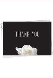 Floral Support - Gratitude, Printed Sympathy Thank You Note Card - C9156ASTG