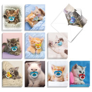 Cat Pacifiers, Assorted Set Of Mini All Occasions Greeting Cards - AM9171OCG