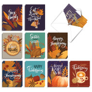 Giving Thanks, Assorted Set Of Mini Thanksgiving Note Cards - AM9178TGG