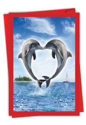 C3504IVD - Loving Animals - Dolphins: Greeting Card