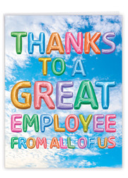 Inflated Messages - Employee, Extra Large Administrative Professionals Day Note Card - J5651YAPG-US