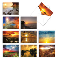 Sun Settings, Assorted Set Of Mini Blank Note Cards - AM1740OCB