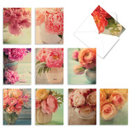 Full Blooms, Assorted Set Of Mini Blank Greeting Cards - AM6553OCB