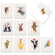 Wildlife Expressions, Assorted Set Of Mini Blank Greeting Cards - AM2973XSB