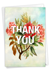 Timely Thanks, Printed Blank Note Card - C9340TYB