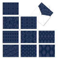 Indigo Blues, Assorted Set Of Mini Blank Note Cards - AM1776OCB