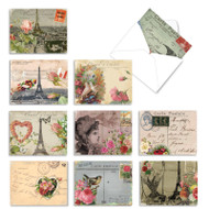 Parisian Postcards, Assorted Set Of Mini Blank Greeting Cards - AM2355OCB