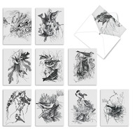 Wing Notes, Assorted Set Of Mini Blank Note Cards - AM6475OCB